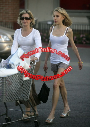 Olivia Newton-John with her 21-year old daughter Chloe Lattanzi,