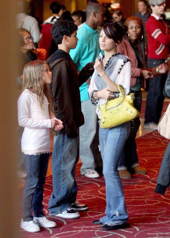 celebrity baby scoop  nicole richie  u0026 her siblings see a movie
